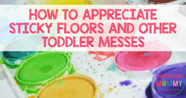 Are you frustrated by messy toddlers in your house? This mom's post really made me think. I'm so happy I found this!