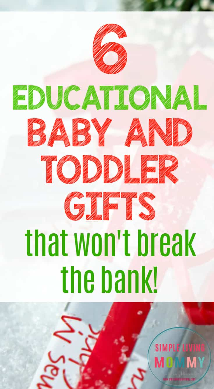 Every kid looks forward to gifts at Christmas time, so why not make sure you're picking educational toys for your baby or toddler?  This mom suggests six educational toys that her kids use and love.  I'm definitely adding some of these to my shopping list!
