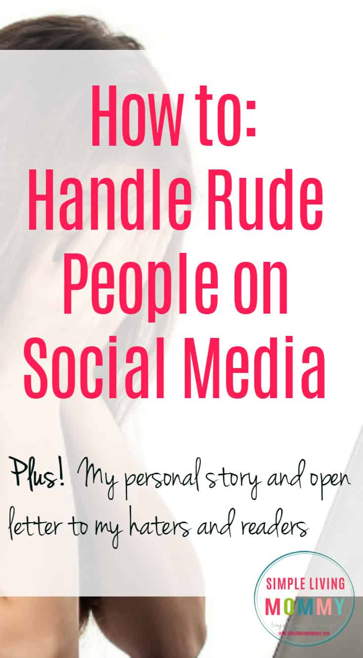 Have you ever encountered a hater on social media and questioned the right way to handle it? Here are one bloggers tips to handle rude people without losing your class or becoming a door mat. I love the 3rd tip!