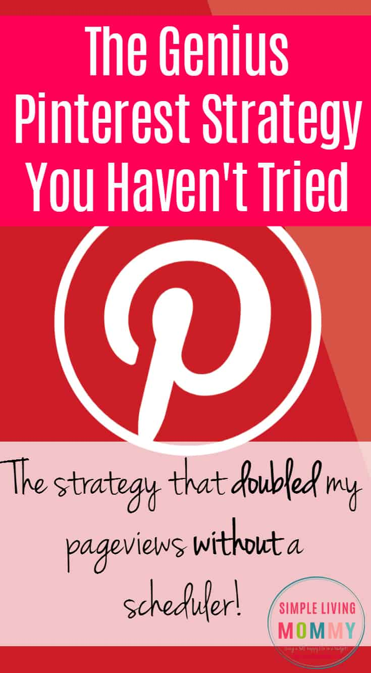 Are you a blogger who is still struggling to get traction on Pinterest? This is the strategy one blogger uses to get over 100,000 pageviews per month in her first year of blogging WITHOUT using a scheduler!