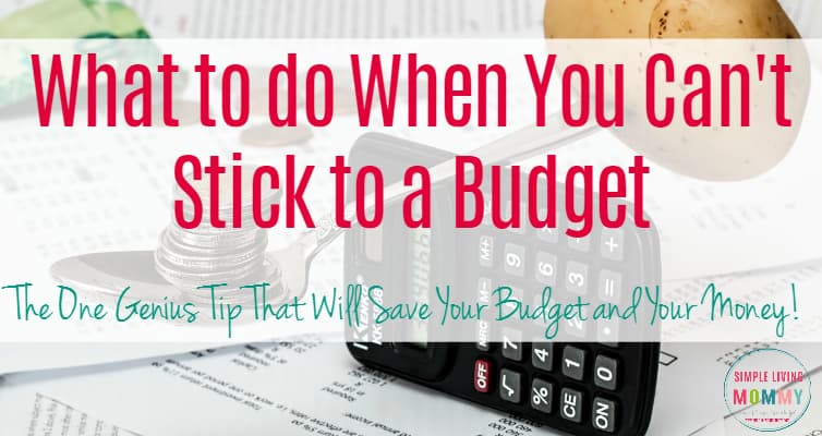 Do you create a budget with the best of intentions only to break it by the end of the month. This mom has one genius tip that will save your budget and money!