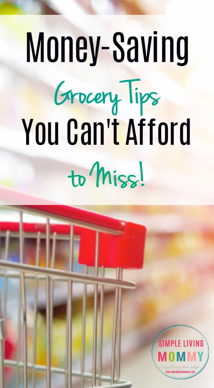 Do you know the most uncontrolled drain on most families' budgets?  Food!  You can't afford to miss these amazing money saving tips for your grocery budget!