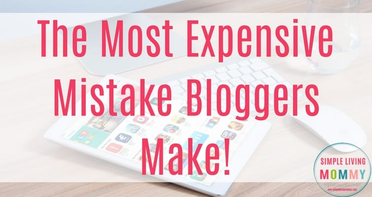Blogging is the best job in the world, but if you're not careful, you'll spend all of the money you worked so hard to earn. This is the most expensive and common mistake bloggers make. I'm so guilty of this!