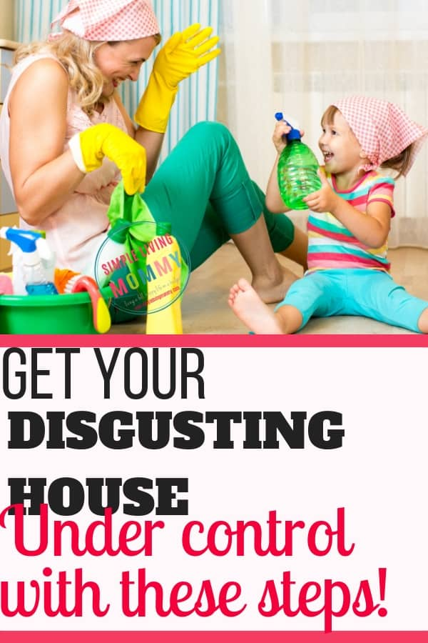 Are you completely overwhelmed by how cluttered and disgusting your house is? These simple steps will help you conquer even the most disgusting house in just one weekend. Someone finally said what I needed to hear!
