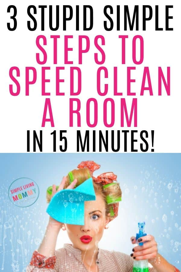 how to clean a room in 15 minutes