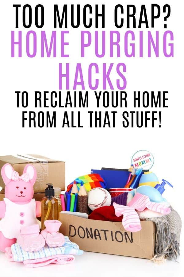 how to purge your home of clutter