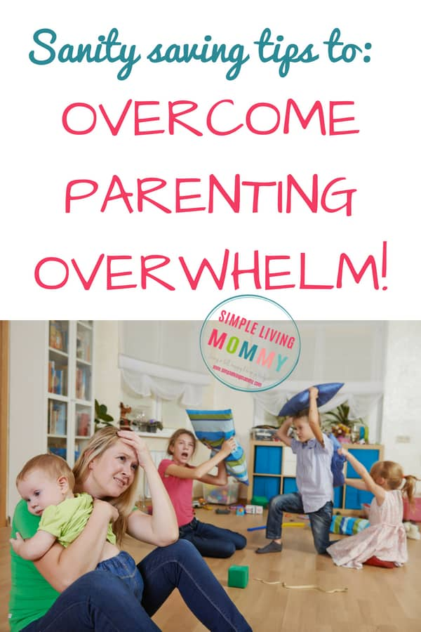 Parenting is hard! These simple tips on how to overcome parenting overwhelm are a lifesaver for stressed out moms and dads! #parentingoverwhelm #stressedparents
