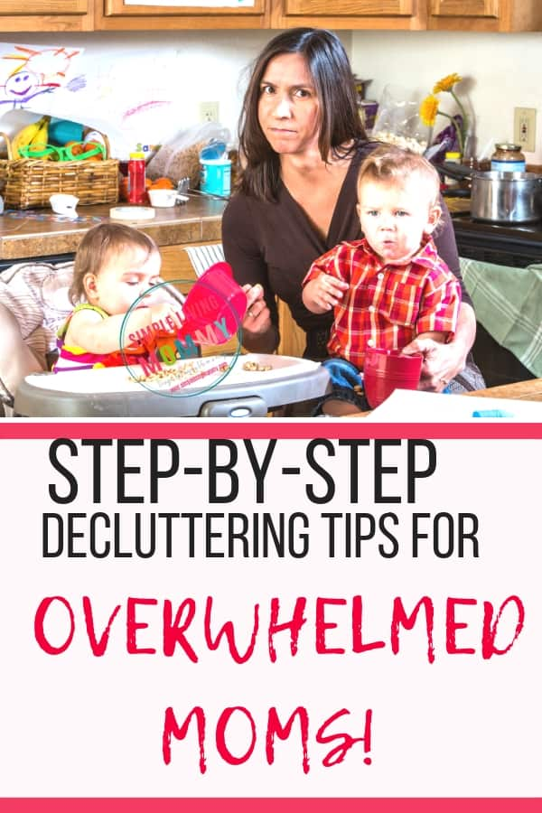 Decluttering tips for overwhelmed moms! Learn the secret to conquer your clutter at naptime and drastically decrease stress with these crazy simple tips!