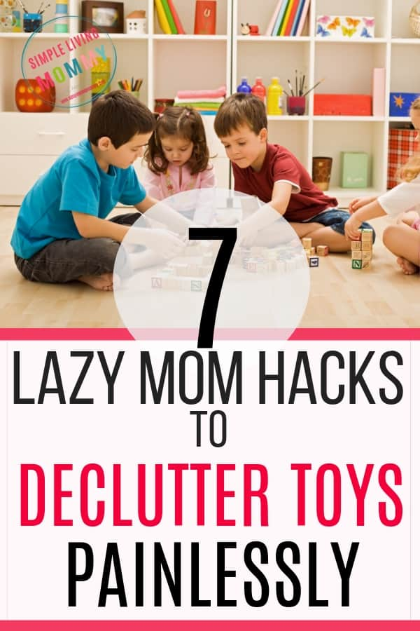 Organized playroom with kids after declutter toys