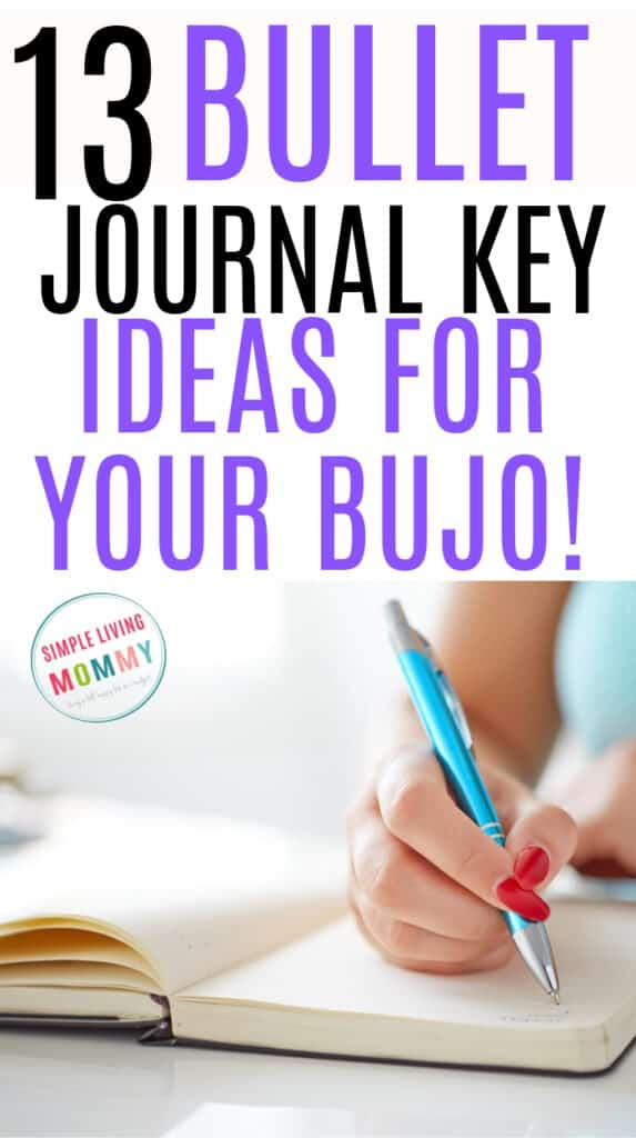 Girl creating her bujo key