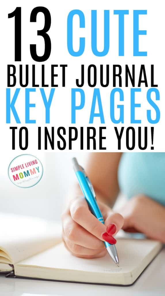 Girl creating her bullet journal key page