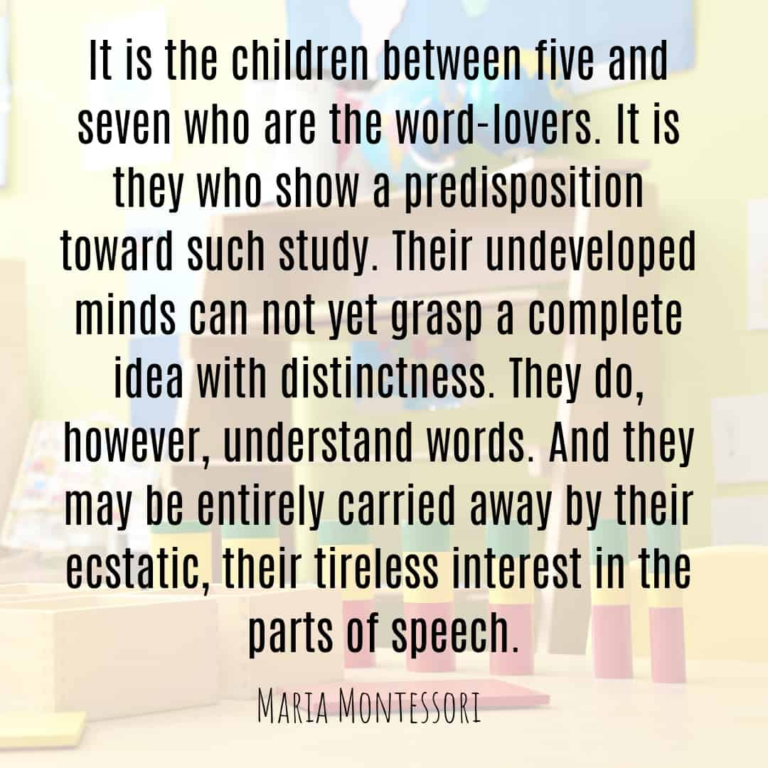 Maria Montessori Quote it is the children between five and seven...