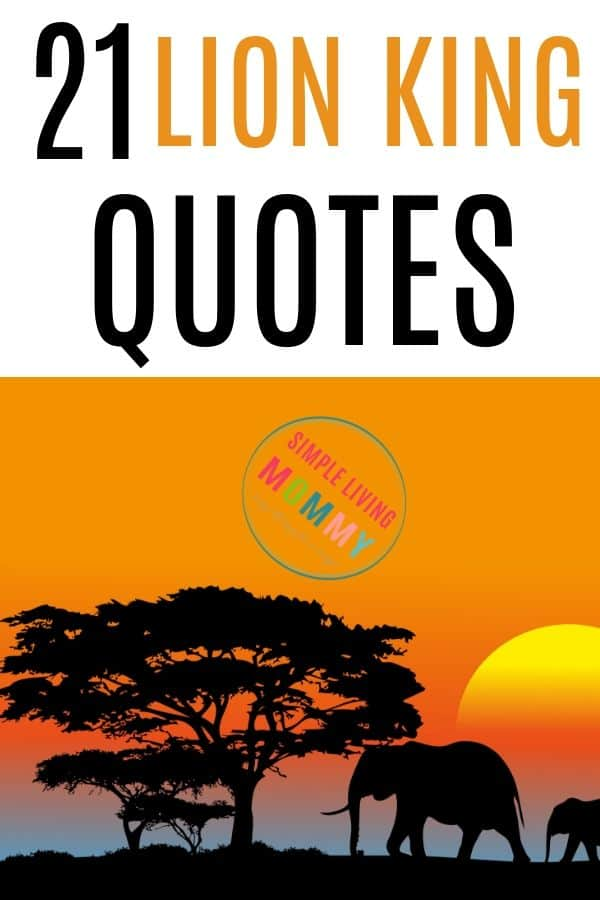 21 Lion King Quotes to inspire you from Mufasa, Simba, Timon, and Rafiki. These are some of favorite Disney quotes