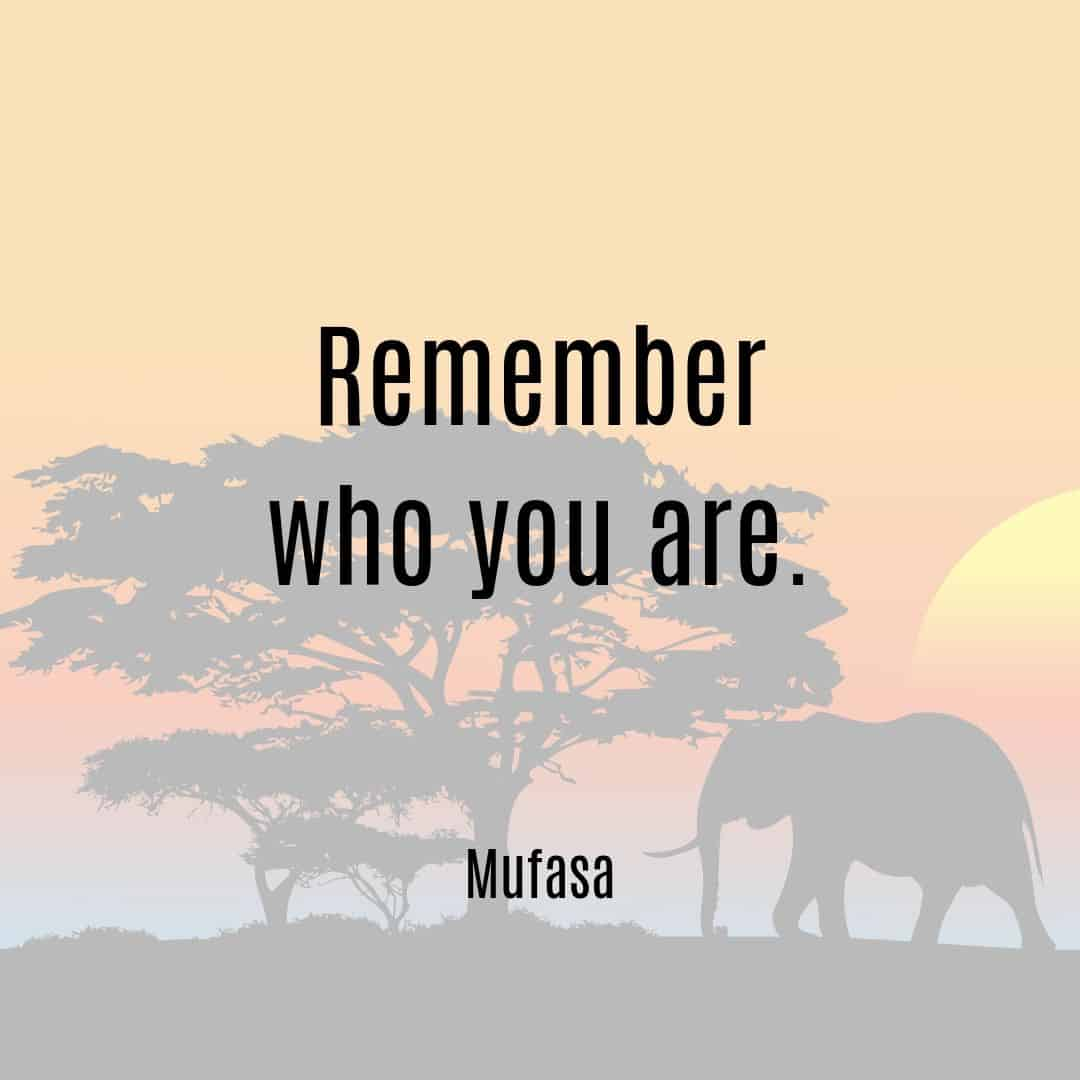Remember who you are Mufasa quote Lion King