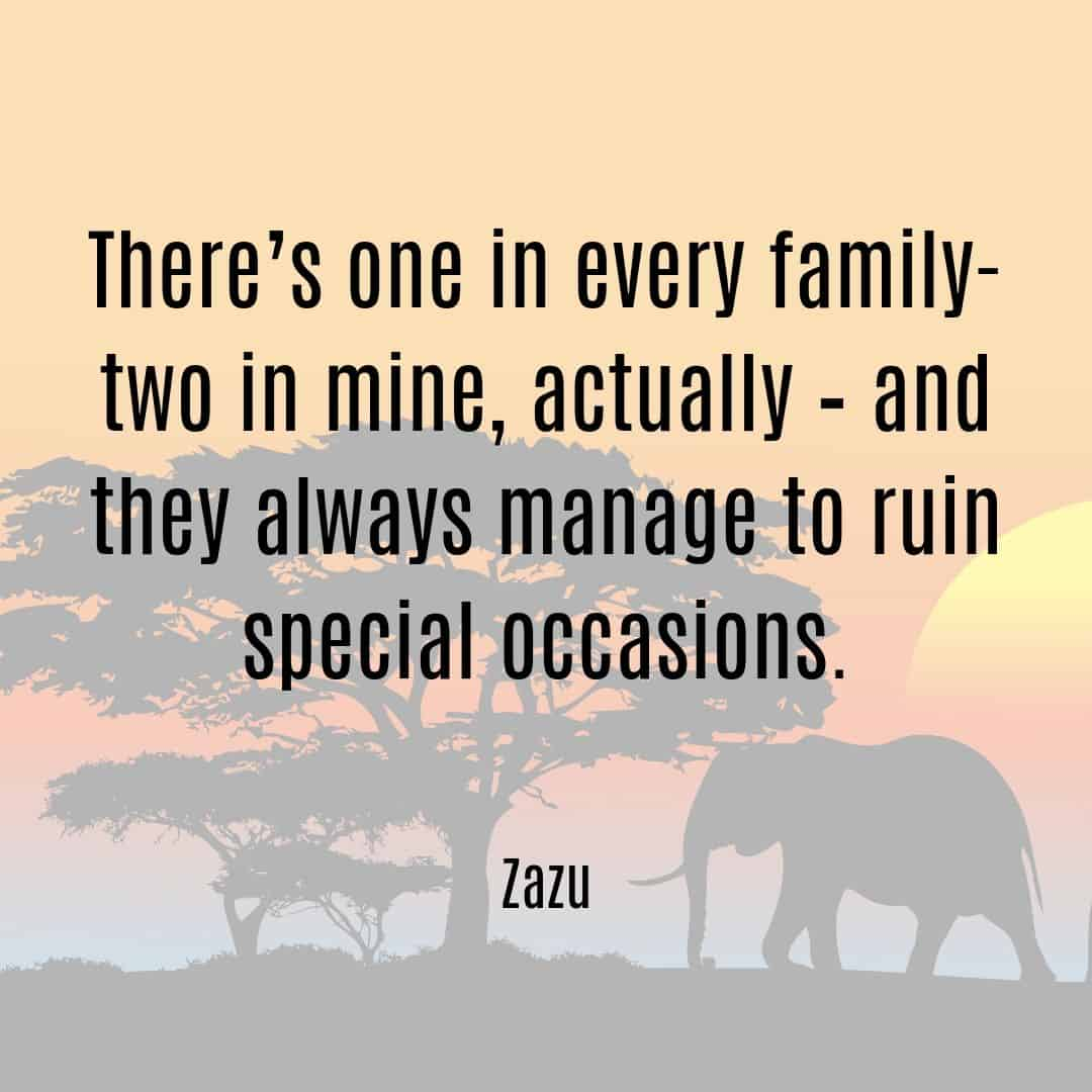 There's one in every family - two in mine actually - and they always manage to ruin special occasions Zazu quote Lion King