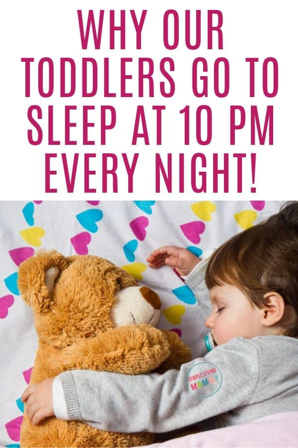 toddler bedtime time