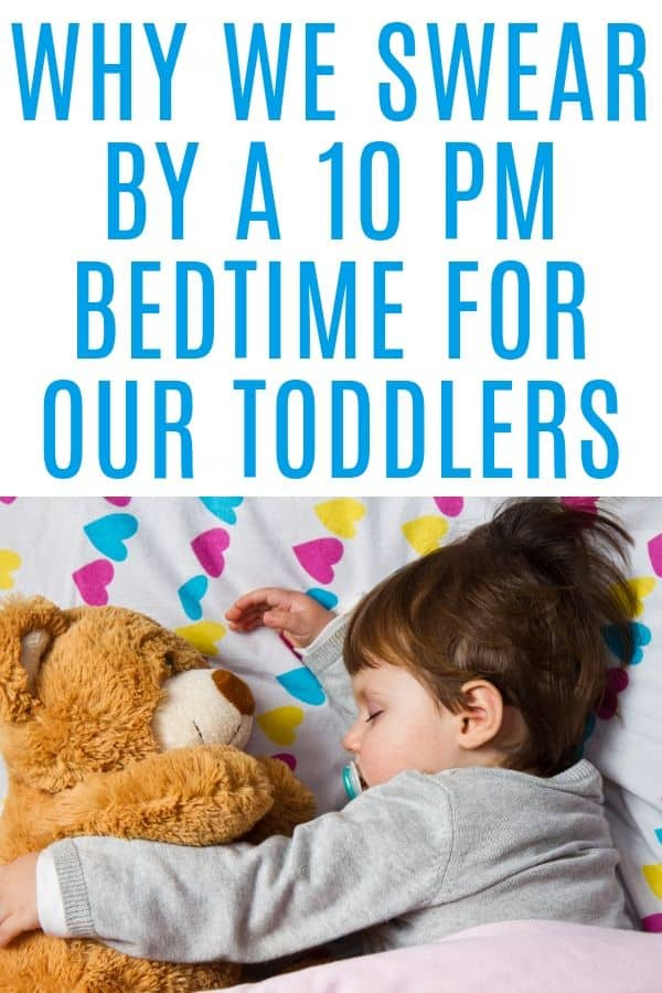 late toddler bedtime