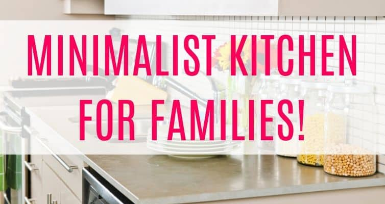 minimalist kitchen for families
