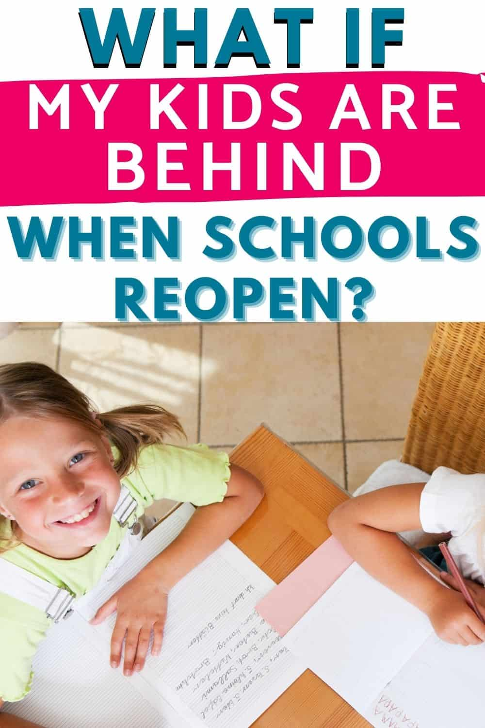 what if my kids are behind after homeschooling