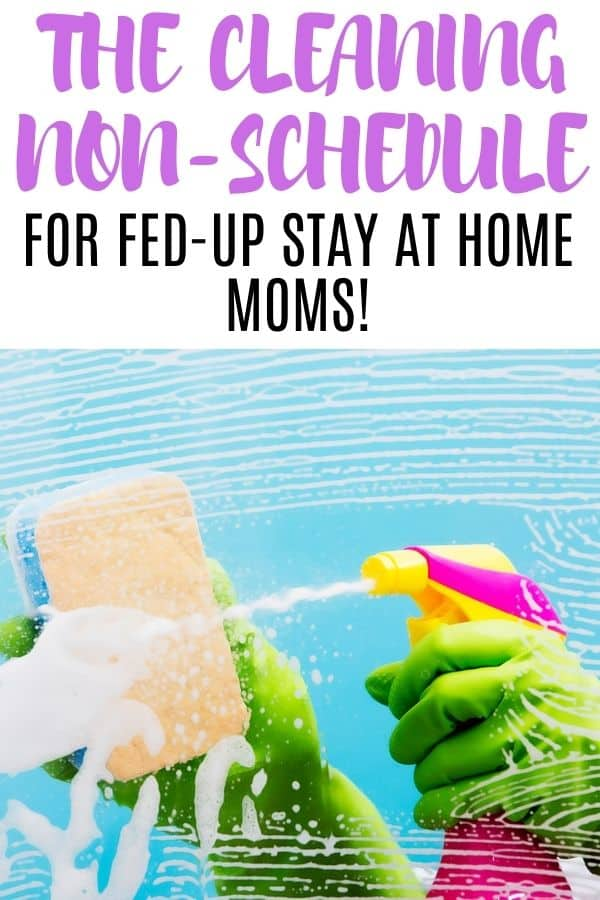 cleaning checklist for stay at home moms