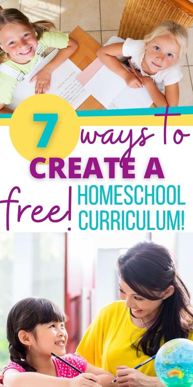 how to create a free homeschool curriculum